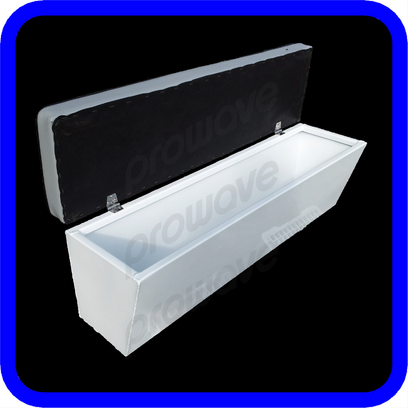 Aluminium boat seat box or lounge 1085l x 290w x 365h for Boat mailbox