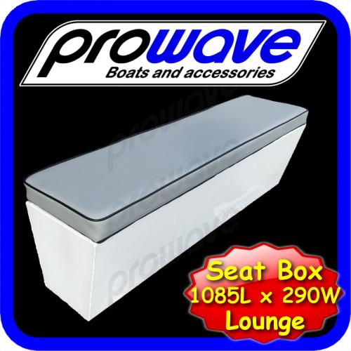 Aluminium boat seat box