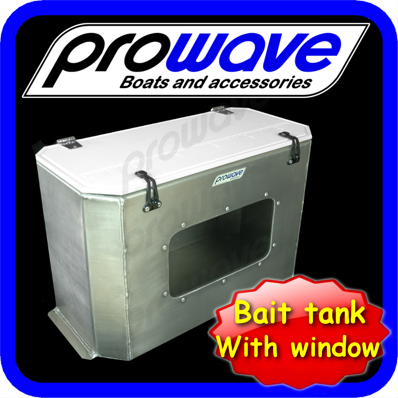 Bait tank with window 600L x 300W x 390H, 65 litres 01