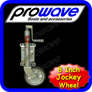 Jockey wheel, folding, 8 inch deluxe 01