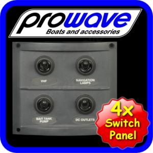 Switch panel, 4 way, grey 01