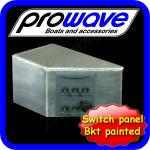 Switch panel, 5 way with 12 volt socket and alloy bkt 01