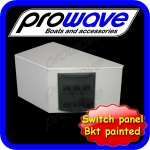 Switch panel, 5 way with 12 volt socket and alloy bkt painted 01