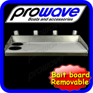 Bait board removable, top only, unpainted med 01
