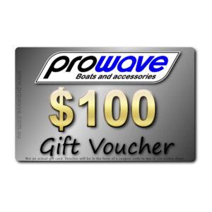 Prowave gift voucher $100