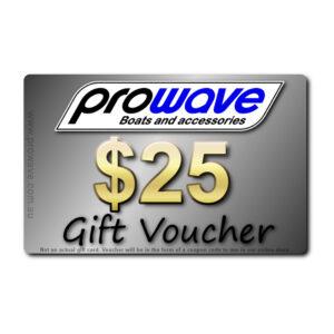 Prowave gift voucher $25