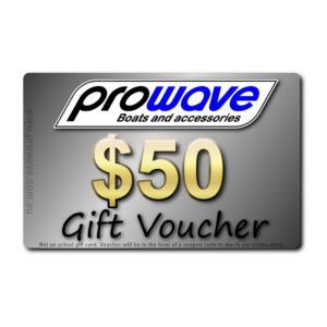 Prowave gift voucher $50