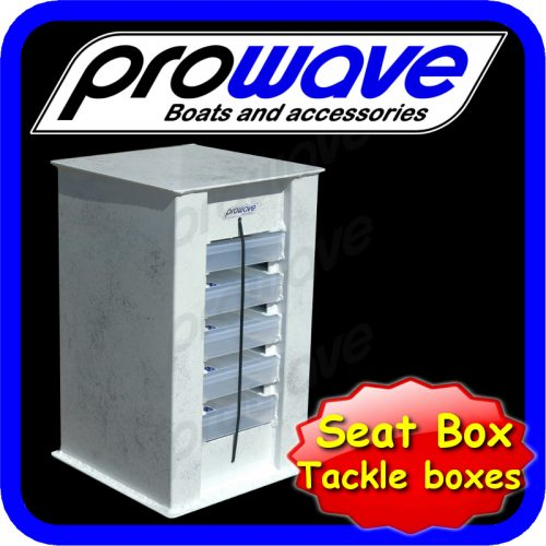 Seat box with tackle boxes